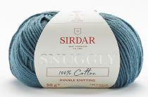 Sirdar Snuggly 100% Cotton DK 50g - 750 Smokey Blue